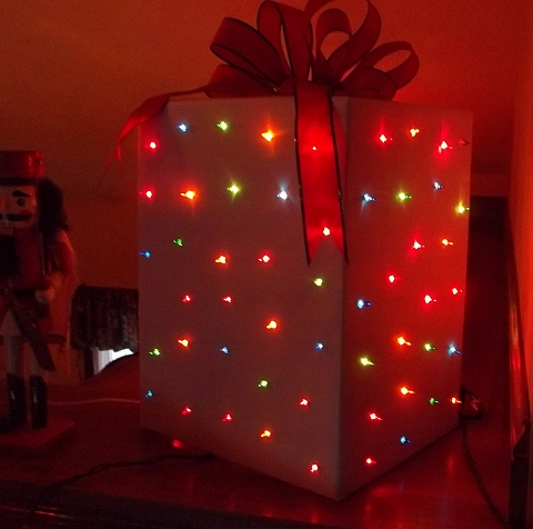 christmas light box decoration
