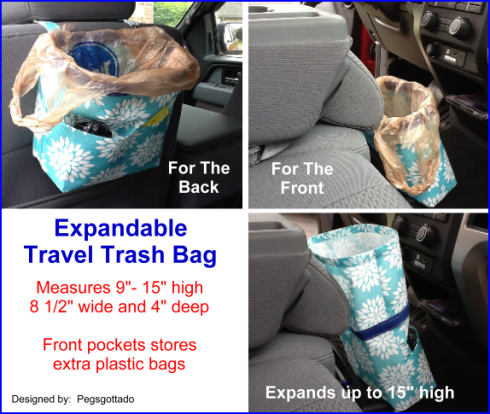 Expandable Travel Trash Bag Pattern