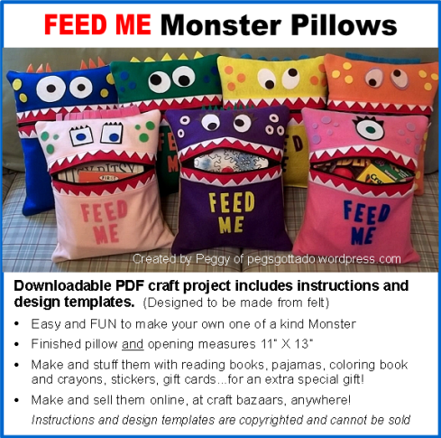 FEED ME Monster Pillow Pattern