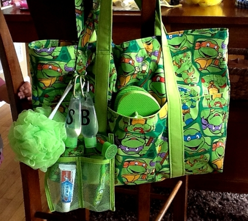 Cadens Ninja Turtle Tote and Lanyard