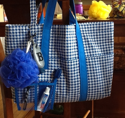 Daves Blue Tote and Lanyard