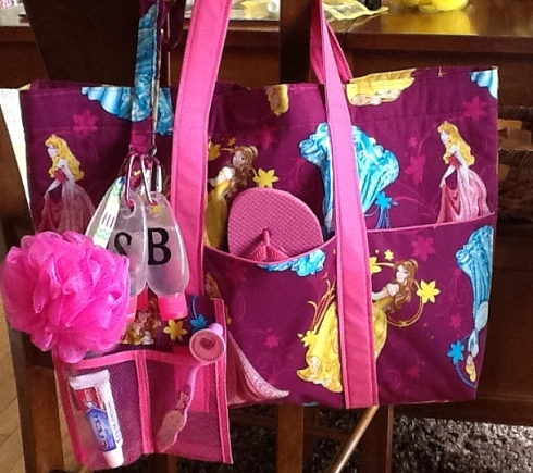 Kinzleys Pink Princess Tote and Lanyard