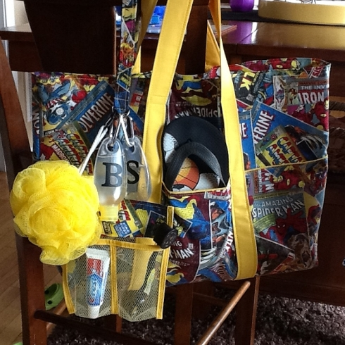 Kylans Super Heros Tote and Lanyard