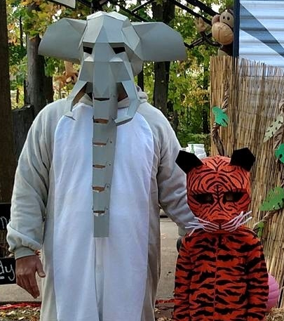 elephant and tiger costumes