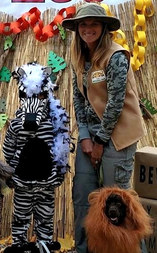 Zebra and Zoo Keeper Halloween Costumes